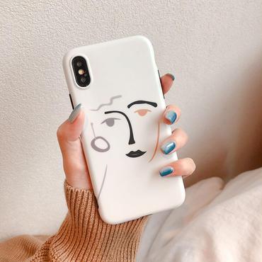【M921】★ iPhone 6 / 6sPlus / 7 / 7Plus / 8 / 8Plus / X / Xs / XR / Xs max ★ シェルカバー ケース Art Face