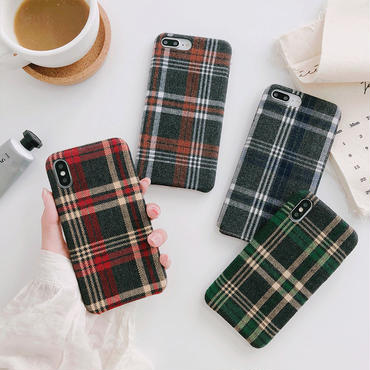 【M902】★ iPhone 6 / 6s / 6Plus / 6sPlus / 7 / 7Plus / 8 / 8Plus / X ★ シェルカバーケース チェック柄