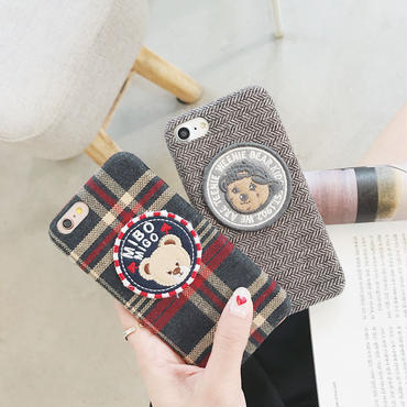 【M875】★ iPhone 6 / 6s / 6Plus / 6sPlus / 7 / 7Plus / 8 / 8Plus / X ★ シェルカバー ケース cute bear