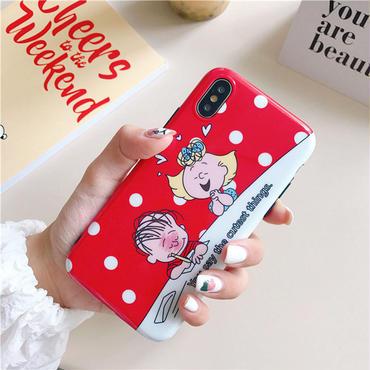 【M838】★ iPhone 6 / 6s / 6Plus / 6sPlus / 7 / 7Plus / 8 / 8Plus / X ★ シェルカバー ケース  Boy and Girl