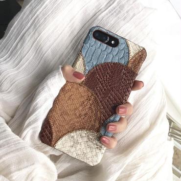 [M320] ★ iPhone 6 / 6s / 6Plus / 6sPlus / 7 / 7Plus / 8 / 8Plus / X ★ iPhone Case パッチワーク サイド お洒落