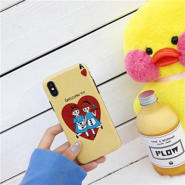【M550】★ iPhone 6 / 6s / 6Plus / 6sPlus / 7 / 7Plus / 8 / 8Plus / X ★  ケース Welcome Yo イラスト 可愛い ゆる