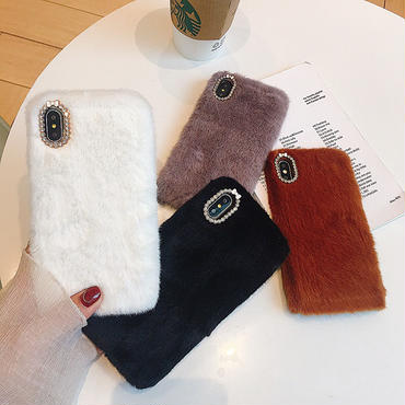 【M143】★ iPhone 6 / 6sPlus / 7 / 7Plus / 8 / 8Plus / X ★ シェルカバーケース Fur case