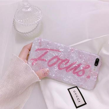 【M517】♡ iPhone 6 / 6s /6Plus / 6sPlus / 7 / 7Plus / 8 / 8Plus / X ♡ シェルカバー ケース Focus  ピンク ロゴ