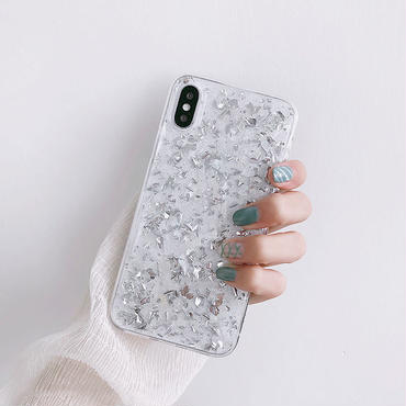 【M516】♡ iPhone 6 / 6s /6Plus / 6sPlus / 7 / 7Plus / 8 / 8Plus / X ♡ シェルカバー クリア ケース キラキラ 綺麗