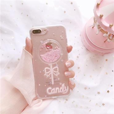 [M354]★ iPhone 6 / 6s / 6Plus / 6sPlus / 7 / 7Plus / 8 / 8Plus / X ★ Candy iPhone Case ピンク 可愛い