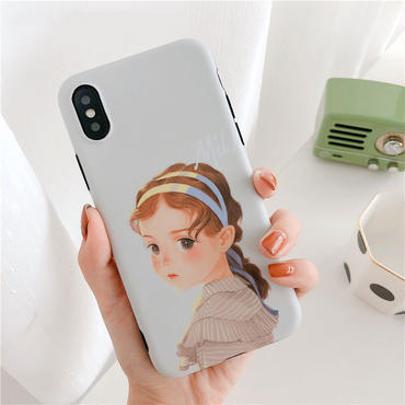【M846】★ iPhone 6 / 6s / 6Plus / 6sPlus / 7 / 7Plus / 8 / 8Plus / X ★ シェルカバー ケース Cutest Girl