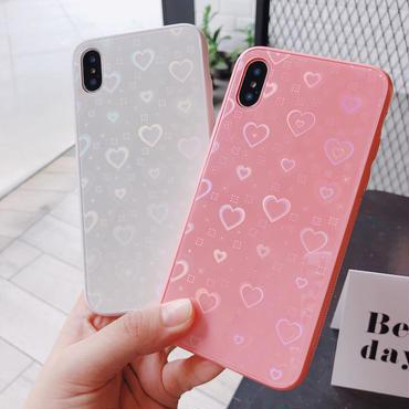 【M730】★ iPhone 6 / 6s / 6Plus / 6sPlus / 7 / 7Plus / 8 / 8Plus / X ★ シェルカバーケース Pink White Love