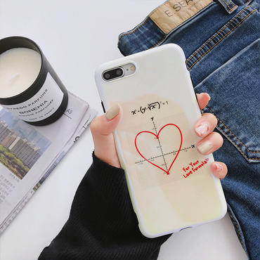【M350】★ iPhone 6/6s/6Plus/6sPlus / 7 / 7Plus / 8 / 8Plus / X ★ Love Hearts iPhone ケース ハート 偏光 個性的