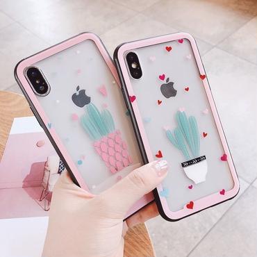 【M614】★ iPhone 6 / 6s / 6Plus / 6sPlus / 7 / 7Plus / 8 / 8Plus / X ★ シェルカバーケース ピンク 可愛い