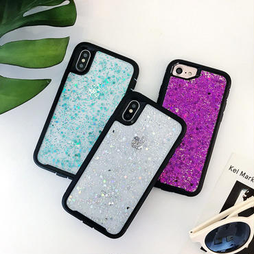 【M873】★ iPhone 6 / 6s / 6Plus / 6sPlus / 7 / 7Plus / 8 / 8Plus / X ★ シェルカバーケース Glitter cover 可愛い