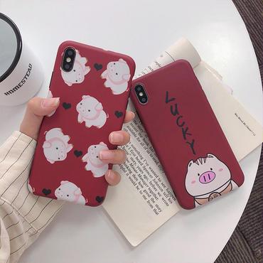 【M230】★ iPhone 6 / 6sPlus / 7 / 7Plus / 8 / 8Plus / X/ XS / Xr /Xsmax ★ シェルカバー ケース 🐽 piggy pig