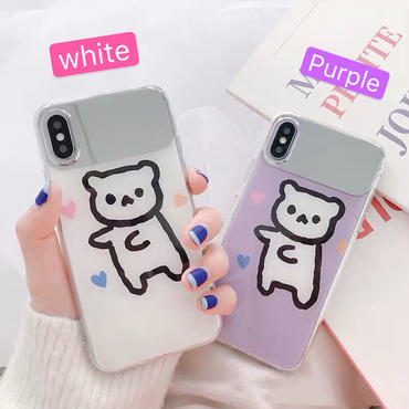 【N146】★ iPhone 6 / 6sPlus / 7 / 7Plus / 8 / 8Plus / X /XS /XR/Xs max★ シェルカバーケース Bear かわいい