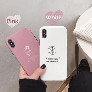 【N166】★ iPhone 6 / 6sPlus / 7 / 7Plus / 8 / 8Plus / X/XS / Xr /Xsmax ★ シェルカバー ケース Pink Or White