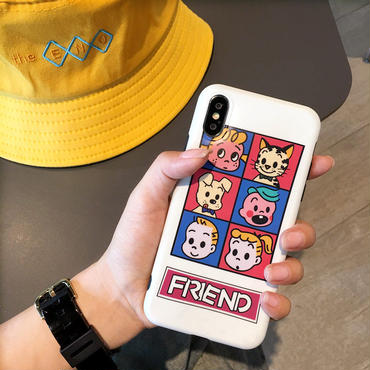 【M721】★ iPhone 6 / 6s / 6Plus / 6sPlus / 7 / 7Plus / 8 / 8Plus / X ★ シェルカバー ケース KIDS with PETS 友人