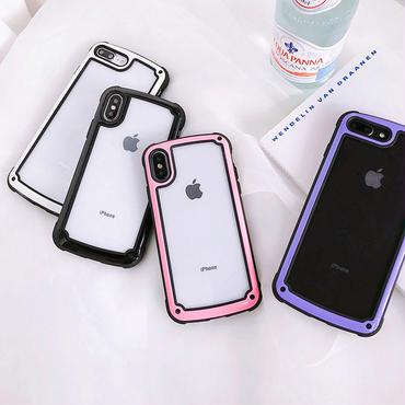 【M622】★ iPhone 6 / 6s / 6Plus / 6sPlus / 7 / 7Plus / 8 / 8Plus / X ★ シェルカバーケース シンプル フレーム ケース