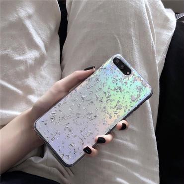【M739】★ iPhone 6 / 6s / 6Plus / 6sPlus / 7 / 7Plus / 8 / 8Plus / X ★ シェルカバー ケース キラキラ 偏光