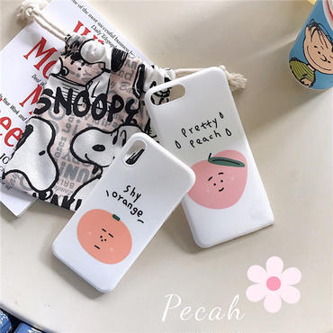 【M623】★ iPhone 6 / 6s / 6Plus / 6sPlus / 7 / 7Plus / 8 / 8Plus / X ★ シェルカバーケース Orange の子