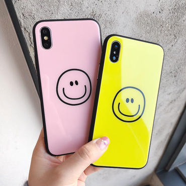 【M413】★iPhone 6 / 6s /6Plus / 6sPlus / 7 / 7Plus / 8 / 8Plus / X ★ シェルカバー ケース Smile