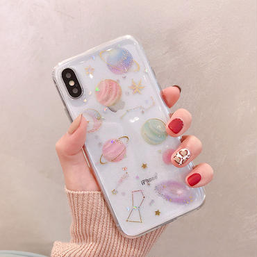【M112】★ iPhone 6 / 6sPlus / 7 / 7Plus / 8 / 8Plus / X/XS /Xr /Xs Max★ シェルカバー ケース Space おしゃれ