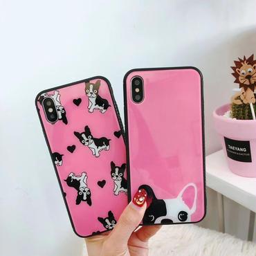 [M340]★ iPhone 6 / 6s / 6Plus / 6sPlus / 7 / 7Plus / 8 / 8Plus / X ★iPhone シェルカバー ケース 犬  個性的 可愛い