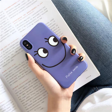 【M740】★ iPhone 6 / 6s / 6Plus / 6sPlus / 7 / 7Plus / 8 / 8Plus / X ★ シェルカバー ケース Purple LOOK at me