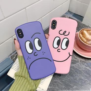 【N111】★ iPhone 6 / 6sPlus / 7 / 7Plus / 8 / 8Plus / X/XS / Xr /Xsmax ★ シェルカバー ケース Emoji Face