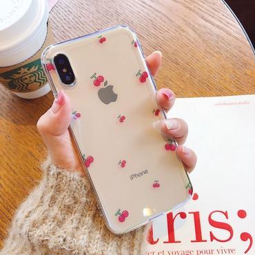 [M369]★ iPhone 6 / 6s / 6Plus / 6sPlus / 7 / 7Plus / 8 / 8Plus / X ★ iPhone ケース チェリー 可愛い