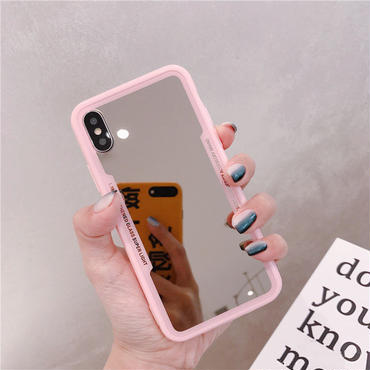 【M940】★ iPhone 6 / 6sPlus / 7 / 7Plus / 8 / 8Plus / X / Xs / XR / Xs Max ★ シェルカバーケースミラー in Pink