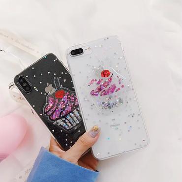 【M426】★ iPhone 6 / 6s /6Plus / 6sPlus / 7 / 7Plus / 8 / 8Plus / X ★ シェルカバー ケース クリア  アイスクリーム