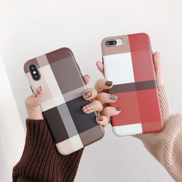 【M210】★ iPhone 6s / 6sPlus / 7 / 7Plus / 8 / 8Plus / X / Xs / Xr /Xsmax★ シェルカバーケース チェック