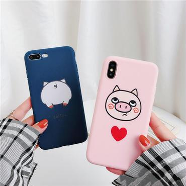 【M154】★ iPhone 6 / 6sPlus / 7 / 7Plus / 8 / 8Plus / X/XS / Xr /Xsmax ★ シェルカバー ケース Lovely Piggy
