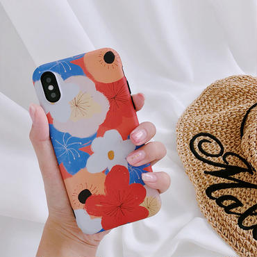 【M850】★ iPhone 6 / 6s / 6Plus / 6sPlus / 7 / 7Plus / 8 / 8Plus / X ★ シェルカバー ケース  Flower Shell Case