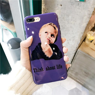 【M422】★ iPhone 6 / 6s /6Plus / 6sPlus / 7 / 7Plus / 8 / 8Plus / X ★ シェルカバー ケース Think about Life