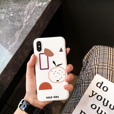 【M841】★ iPhone 6 / 6s / 6Plus / 6sPlus / 7 / 7Plus / 8 / 8Plus / X ★ シェルカバー ケース ART WHITE CASE