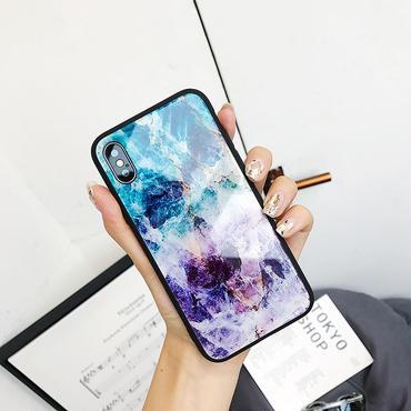 【M843】★ iPhone 6 / 6s / 6Plus / 6sPlus / 7 / 7Plus / 8 / 8Plus / X ★ シェルカバー ケース Purple Marble Case