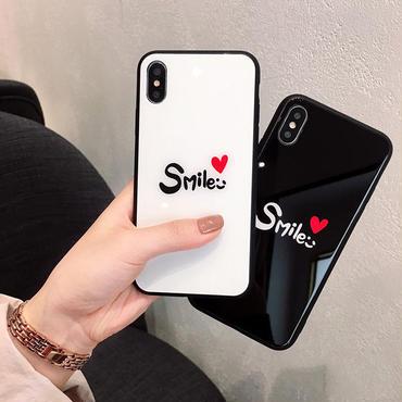 [M317] ★ iPhone 6 / 6s / 6Plus / 6sPlus / 7 / 7Plus / 8 / 8Plus / X ★ シェルカバー ケース 赤いハート Smile 可愛い