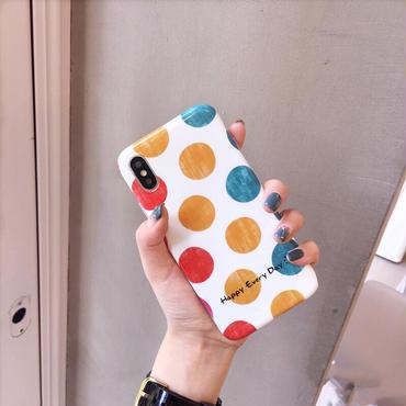 【M743】★ iPhone 6 / 6s / 6Plus / 6sPlus / 7 / 7Plus / 8 / 8Plus / X ★ シェルカバー ケース  Color Dots