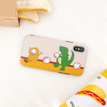 【M708】★ iPhone 6 / 6s / 6Plus / 6sPlus / 7 / 7Plus / 8 / 8Plus / X ★ シェルカバー ケース smile dinosaur