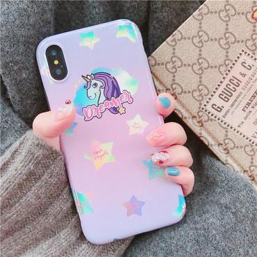 【M334】★ iPhone 6 / 6s / 6Plus / 6sPlus / 7 / 7Plus / 8 / 8Plus / X ★ Star iPhone ケース 星 ふわもこ 偏光