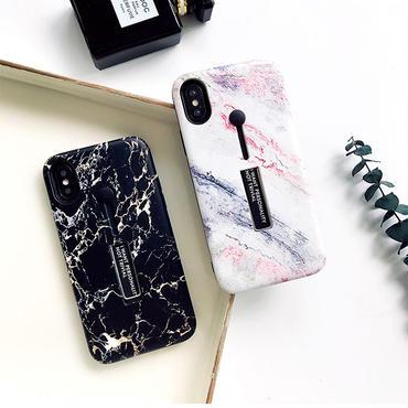 【M319】★ iPhone6 / 6Plus / 6s / 6sPlus / 7 / 7Plus ★ Marble iPhone Case マーブル模様のiPhoneケースホルダーリング