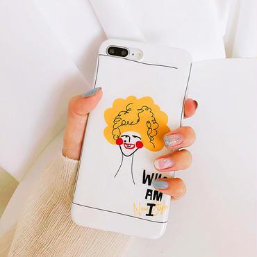 【M716】★ iPhone 6 / 6s / 6Plus / 6sPlus / 7 / 7Plus / 8 / 8Plus / X ★ シェルカバーケース WHO AM I