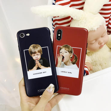 【M812】★ iPhone 6 / 6s / 6Plus / 6sPlus / 7 / 7Plus / 8 / 8Plus / X ★ シェルカバー ケース  可愛い Boy and Girl