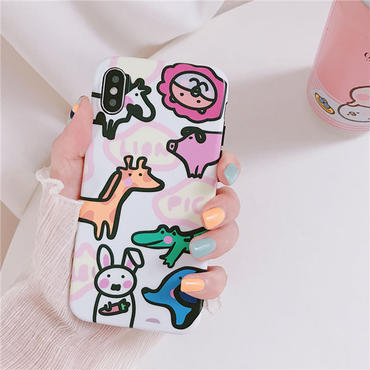 【M848】★ iPhone 6 / 6s / 6Plus / 6sPlus / 7 / 7Plus / 8 / 8Plus / X ★ シェルカバー ケース cute animals