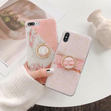 【N119】★ iPhone 6 / 6sPlus / 7 / 7Plus / 8 / 8Plus / X /XS /XR/Xs max★ シェルカバーケース Ring Holder