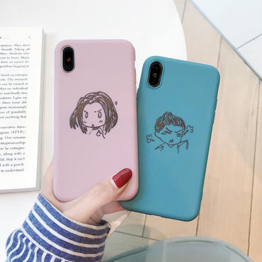 【M236】★ iPhone 6 / 6sPlus / 7 / 7Plus / 8 / 8Plus / X/XS / Xr /Xsmax ★ シェルカバー ケース no angry girl