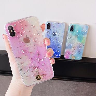 【M612】★ iPhone 6 / 6s / 6Plus / 6sPlus / 7 / 7Plus / 8 / 8Plus / X ★ シェルカバーケース Color Silver Glitter