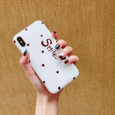 【M714】★ iPhone 6 / 6s / 6Plus / 6sPlus / 7 / 7Plus / 8 / 8Plus / X ★ シェルカバー ケース Smile  ハート♡可愛い