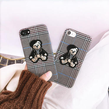 【M315】★ iPhone 6 / 6s / 6Plus / 6sPlus / 7 / 7Plus / 8 / 8Plus / X / XS★ シェルカバー ケース BEAR 可愛い