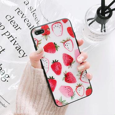 [M351]★ iPhone 6/6s/6Plus/6sPlus/7/7Plus/8/ 8Plus / X ★ Strawberry iPhone Case ケース イチゴ 可愛い